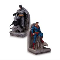 Batman and Superman Bookends Statues
