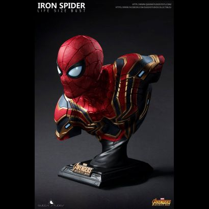 Iron Spider Man Life Size Bust