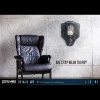 Alien Big Chap Head Trophy 3D Wall Art