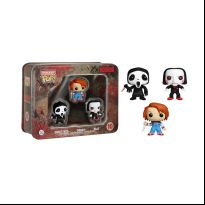Horror 3 Pack Tin - Ghostface, Chucky, and Billy