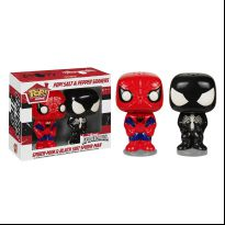 Spider Man and Venom Salt and Pepper Shaker Set