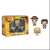 The Walking Dead 3-Pack Tin - Rick, Daryl & Teddy Bear Girl Zombie