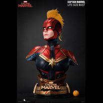 Captain Marvel Liesize Bust
