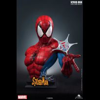 Spiderman Comic Lifesize Bust Red Blue Variant
