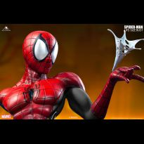 Spiderman Comic Lifesize Bust Red Black Variant