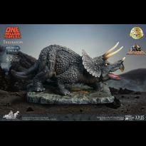 Triceratops With Caveman & Cavegirl