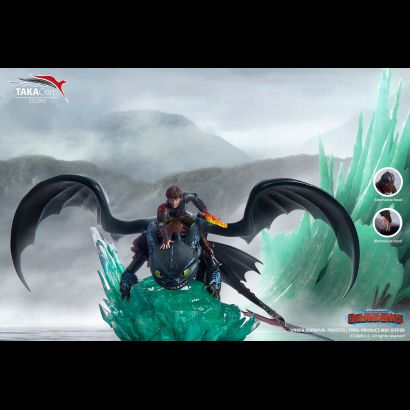 Hiccup & Night Furry (How to Train your Dragons) 1/6